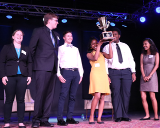 Winning team from ACE-UNC Charlotte