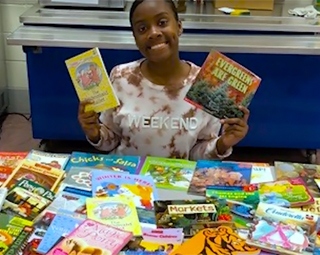 Khamiah Alderman and her book drive