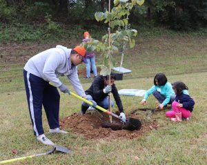 Endhaven Elementary tree planting